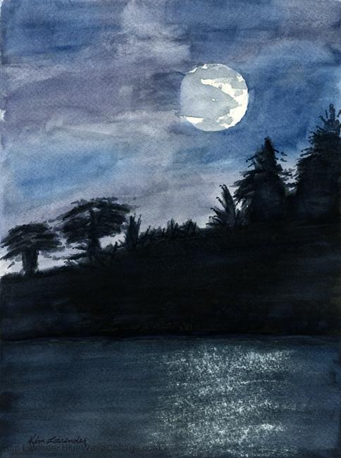 Moonlit Blue