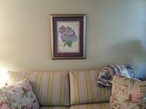 """Purple Hydrangeas"" in New Home"